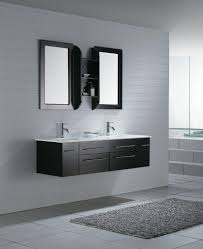 appealing 60 floating vanity 15 bathroom white narrow depth 36 with top inch double sink wall hung small
