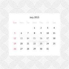 Calendar Page For July 2015 Premium Clipart Clipartlogo Com