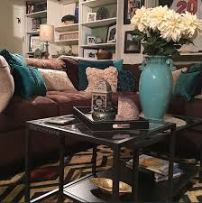 brown and teal living room ideas. Cozy Brown Couch With Teal Accents, Turquoise And Brown, Built-in Shelves, · Living Room Ideas R