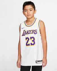 Lebron James Association Edition Swingman Jersey Los Angeles Lakers Big Kids Nba Jersey