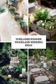 woodland wedding ideas. 35 Relaxed Summer Woodland Wedding Ideas Weddingomania