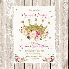 Printable Princess Invitation Princess Birthday Invitation Gold