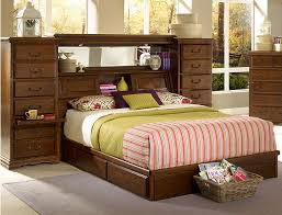 Queen Size Headboard with Shelves New