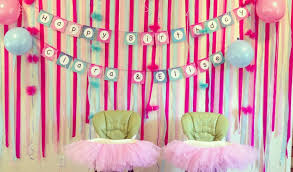 simple decoration for birthday party for 1st birthday at home