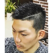 本田圭祐風ラインモヒカン メンズ専門サロン Jadeジェイドのヘア