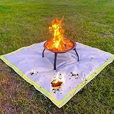 Amazon Com Fire Pit Mat For Deck Visible At Night Kingxbar Protection Grill Patio Fire Pit Pad Hearth Rug Fireproof Mat Deck Protector For Wood Burning Fire Pit Gas Fire Pit