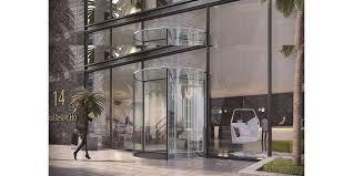 assa abloy rd300 all glass revolving door hotel entrance