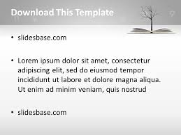 Template Tree Knowledge Tree Powerpoint Template