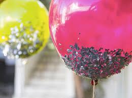 home made glitter balloons