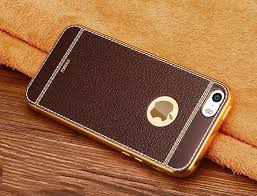 apple iphone 5s gold. vaku ® apple iphone 5s / se 5 leather stiched gold electroplated soft tpu back cover iphone 5s