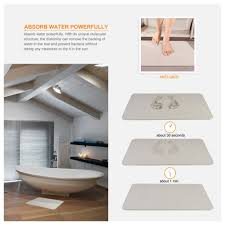 Amazon.com: Uarter Bath Mat Diatomaceous Earth Antibacterial Anti Slip  Bathroom Floor Mats Size in 15