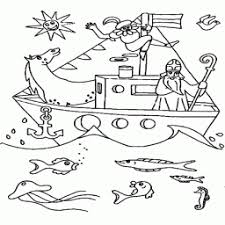 Kleurplaat Sinterklaas Op De Stoomboot Kleurplaatarchiefnl