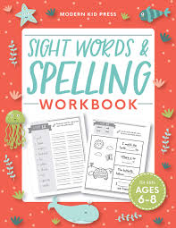 Welcome to esl printables, the website where english language teachers exchange resources: Amazon Com Sight Words And Spelling Workbook For Kids Ages 6 8 Learn To Write And Spell Essential Words Kindergarten Workbook 1st Grade Workbook And 2nd Reading Phonics Activities