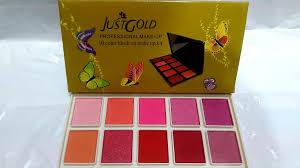 just gold 10 colour blush on makeup kit