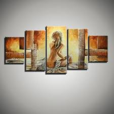 paintings for living room wallCanvas Wall Art Modern Abstract Sexy Lady Nude Art Picture Hand