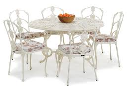 outdoor round dining table. Barrington Metal Outdoor Round Dining Table N
