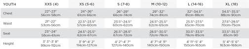 Particular Bauer Clothing Size Chart Youth Pant Size Chart