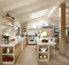 Floating Floor In Kitchen Floor To Ceiling Floating Shelves Kitchen Contemporary With