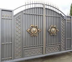 Gate Design Ideas Stunning Gray Gold Gate Design Ideas For Modern Home Decor