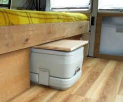 small travel trailers with bathroom. Porta Potty In A Cupboard Small Travel Trailers With Bathroom D