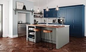 kitchen. Classic Traditional Clonmel Shaker Kitchen In Painted Stone \u0026 Parisian Blue