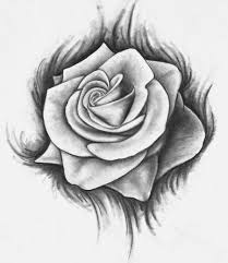 Small Picture Drawn Rose Es Coloring Pages