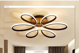 <b>Remote control Ceiling Lights</b> for living room bedroom White balck ...