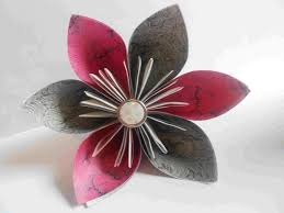 How To Make Paper Cones For Flower Petals How To Make An Origami Kusudama Flower