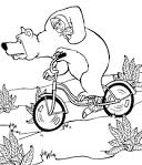 Раскраска про маша и медведь