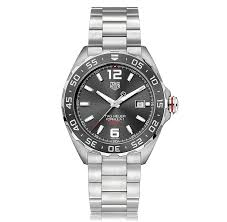 mens sports watches the watch gallery tag heuer formula 1 automatic stainless steel grey dial mens watch waz2011 ba0842