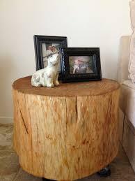 impressive tree stump nightstand fantastic furniture ideas with tree stump coffee table 8388