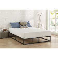 twin size inch low profile modern metal platform bed frame with