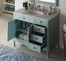 38 Distressed Light Blue Daleville Bathroom Vanity Hf 837lb Bs