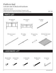 Manuals U0026amp Guides Annika Queen Metal Platform Bed Frame Instructions
