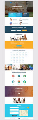 Veterinary Website Design Inspiration Landing Page Veterinary Clinic On Behance Landing Page