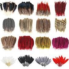 10pcs/lot Super Beautiful <b>Natural</b> Pheasant Feather jewelry <b>Goose</b> ...