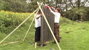 Aufbau Jumbo Wpc Sichtschutzzaun Von Br Gmann Traumgarten Youtube