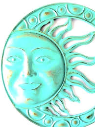 gold  on sun and moon outdoor wall art with gold sun wall decor emdyp me