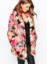 multicolor oversized faux fur coat for women no 1