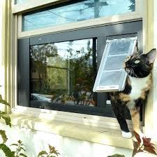 pet door for window insert cat panel side sliding
