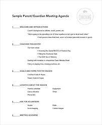 Staff Meeting Agenda Adorable 44 Agenda Samples Sample Templates