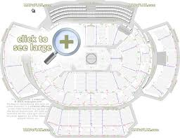 Arena At Gwinnett Center Seating Chart Philips Arena Seat Row Numbers Detailed Seating Chart