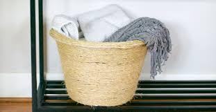 trendy diy rope blanket basket dollar