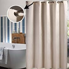 details about bathroom shower curtain hook less waterproof fabric liner mildew proof 36 x 72