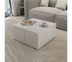 white high gloss coffee table with storage
