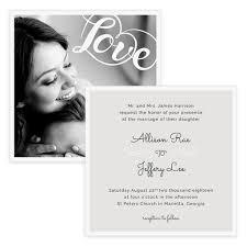 Chic Love Wedding Invitation 5x5