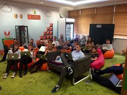 office game room. the dubspot game room is perfect place to watch a company meeting or relax in office