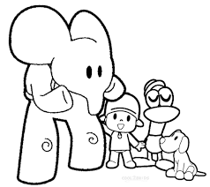 Pocoyo Coloring Pages Free