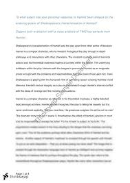 hamlet essay year hsc english advanced thinkswap hamlet essay
