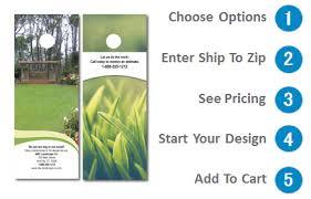 Door Hangers Landscaping 4 25 X 11 Design 1